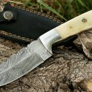 Damascus with bone handle.
