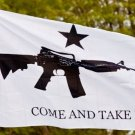 3'X5' SUPER POLYESTER M4 CARBINE COME & TAKE IT FLAG 7033 Code-JSMITH