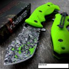 Z-HUNTER GREEN SKULL CAMO RESCUE KNIFE S/A Open Code-JOE HERNANDEZ