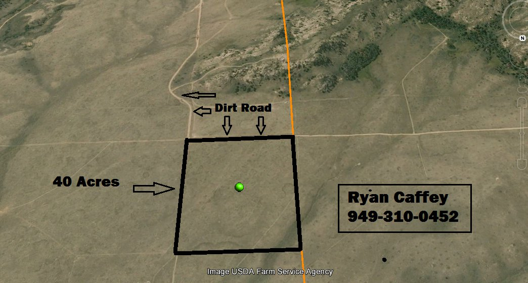40 Acres Alcova, Wyoming! Near Pathfinder Reservoir! OWC!