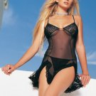 0306L-8597 Sheer Lace Chemise with G-String