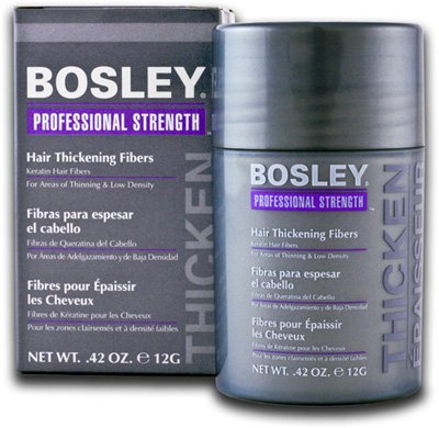 Bosley Hair Thickening Fibers For Light Brown Hair .42 OZ. e 12 G