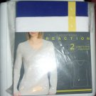 Kenneth Cole Reaction 2 Pack Long Sleeve V-Neck Tee T-Shirts Tops Large 12-14