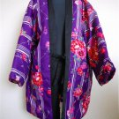 Women`s Hanten Short Coat of kimono Pattern Reversible Room Wear  Size L New