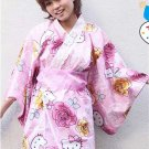 "Hello Kitty mini Yukata ""Butterfly and Rose ""M regular size  Kimono from Japan"
