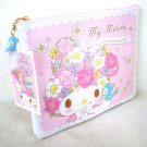 "My Melody flat pouch ""KOTORI""Small bird Pink SANRIO Japan NEW"