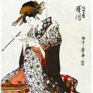 Japanese Doorway Noren Ukiyoe UTAGAWA CurtainTapestry, Partition 33 x 59inch BIG