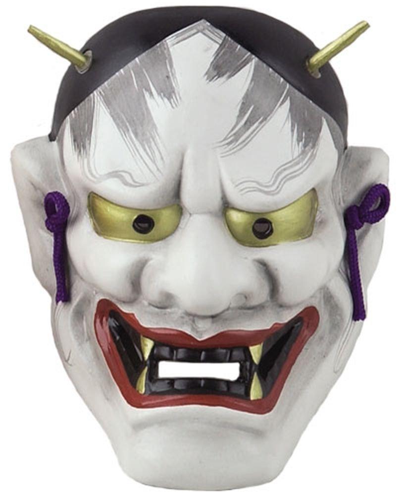 HANNYA Devil, Demon Ceramics Mask Wall hanging Interior Omen from Japan NEW