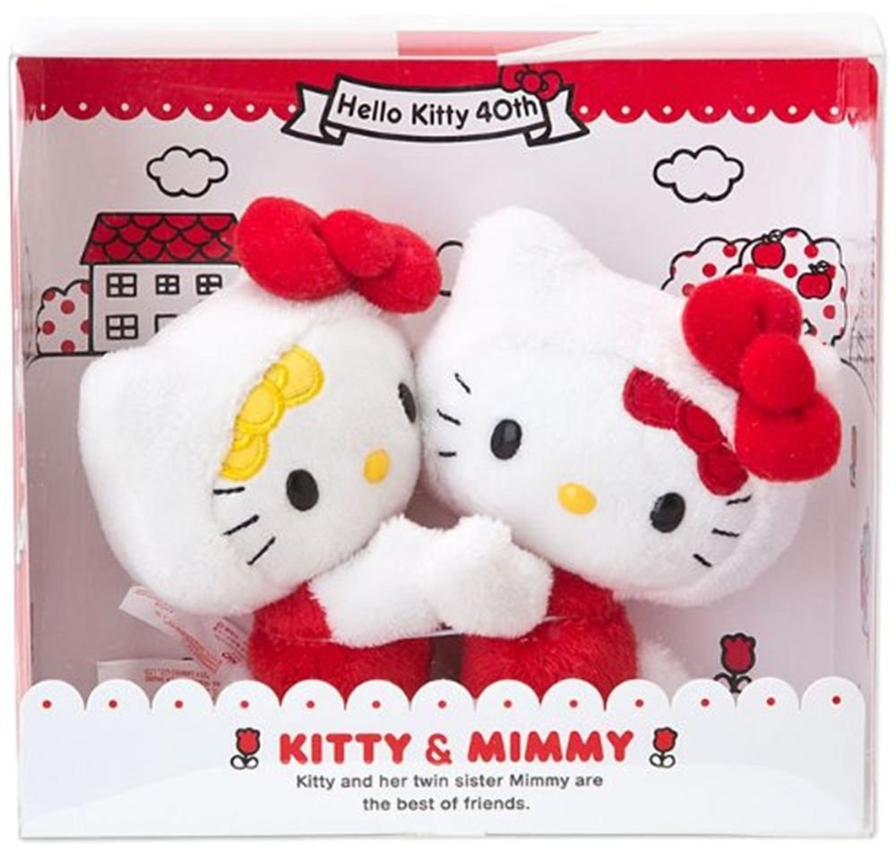 Hello Kitty x Mimmy Plush Doll 40th Anniversary from SANRIO Japan NEW
