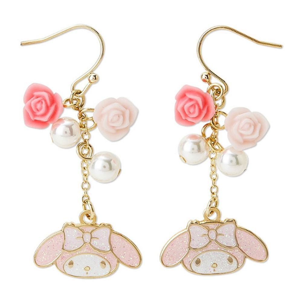 My Melody Pierce pink Rose Earring Sanrio from Japan NEW