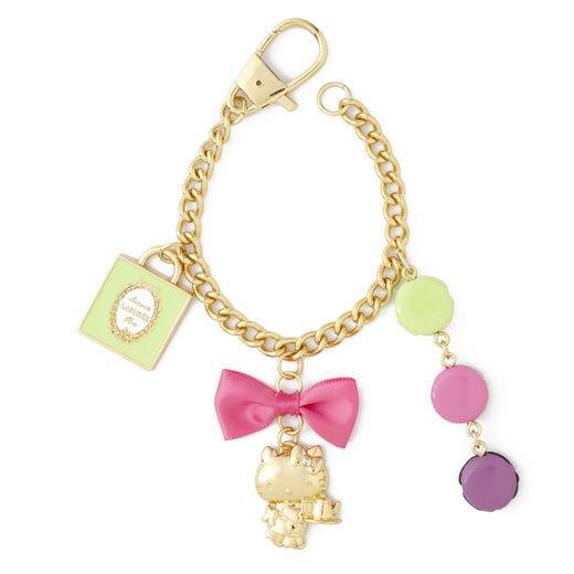 LADUREE Paris Hello Kitty Bag Charm Carbine Key-chain NEW JAPAN shipping free!!