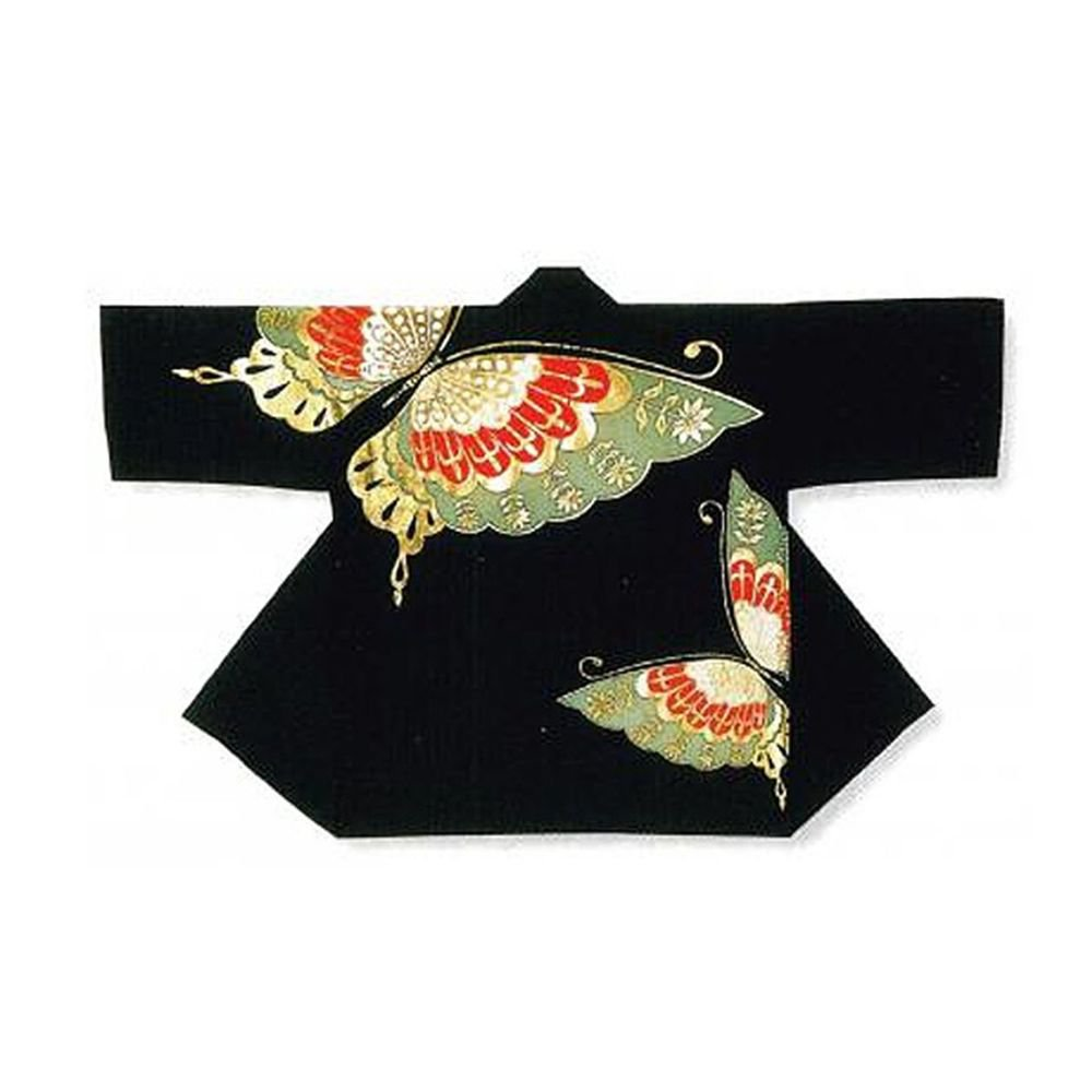 """HAPPI """"Butterfly"""" Japanese Traditional Festival Coat Kimono M Acrylic JAPAN New"""