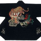 HAPPI Japanese Traditional Festival Coat Tiger vs Dragon Gold Kimono JAPAN New