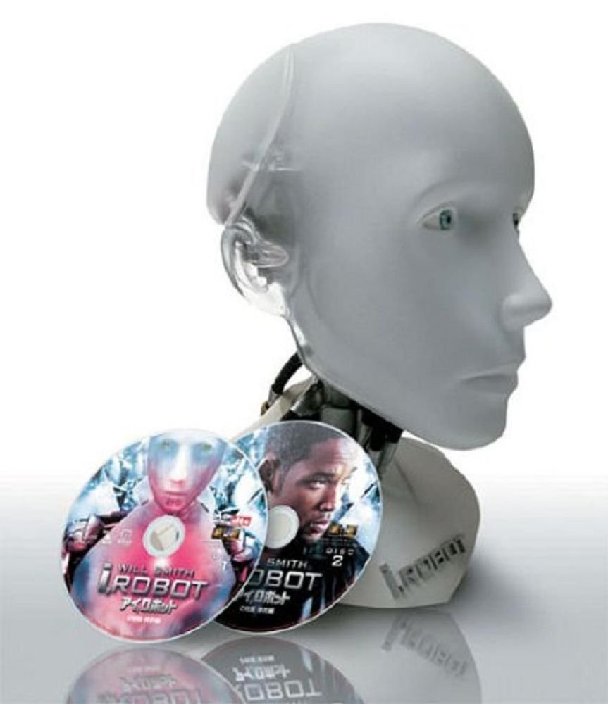 """New i ROBOT """"SUNNY"""" HEAD FIGURE COLLECTOR DVD BOX Free Shipping !"""