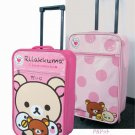Cute Carry-Bag , Case of Rilakkuma Travel bag Pink / Pink x Polka dot NEW
