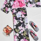 NEW Yukata 4 Piece Set L 2L Large Big Tall sizeWomen Maiko KimonoDress Japan F/S