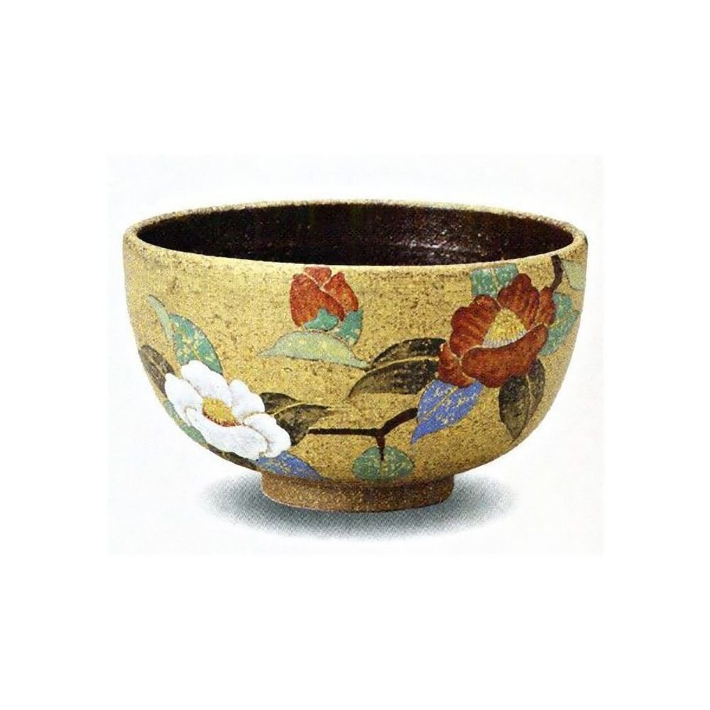 KUTANI YAKI Bowl Chawan  Kinsaisanchaka Green Tea Cup Japan NEW Free Shipping