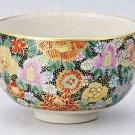 KUTANI YAKI Bowl  Honkin Hanazume from Taiga Green Tea Cup Japan EMS Free shipp