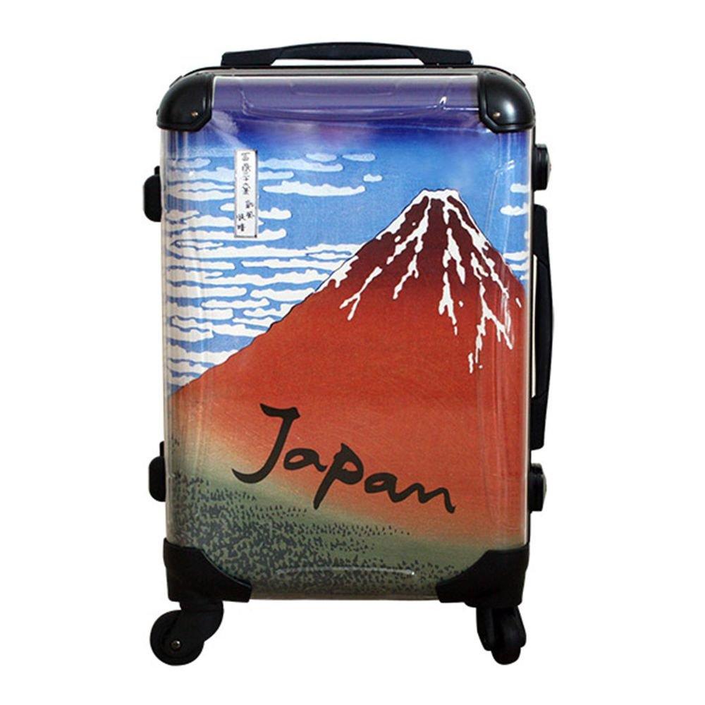 """Hokusai Red Fuji"" UKIYOE Carry Bag, Travel Case NEW from  Kyoto Japan NEW"