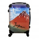 """Hokusai Red Fuji"" UKIYOE Carry Bag, Travel Case NEW from  Kyoto Japan NEW"