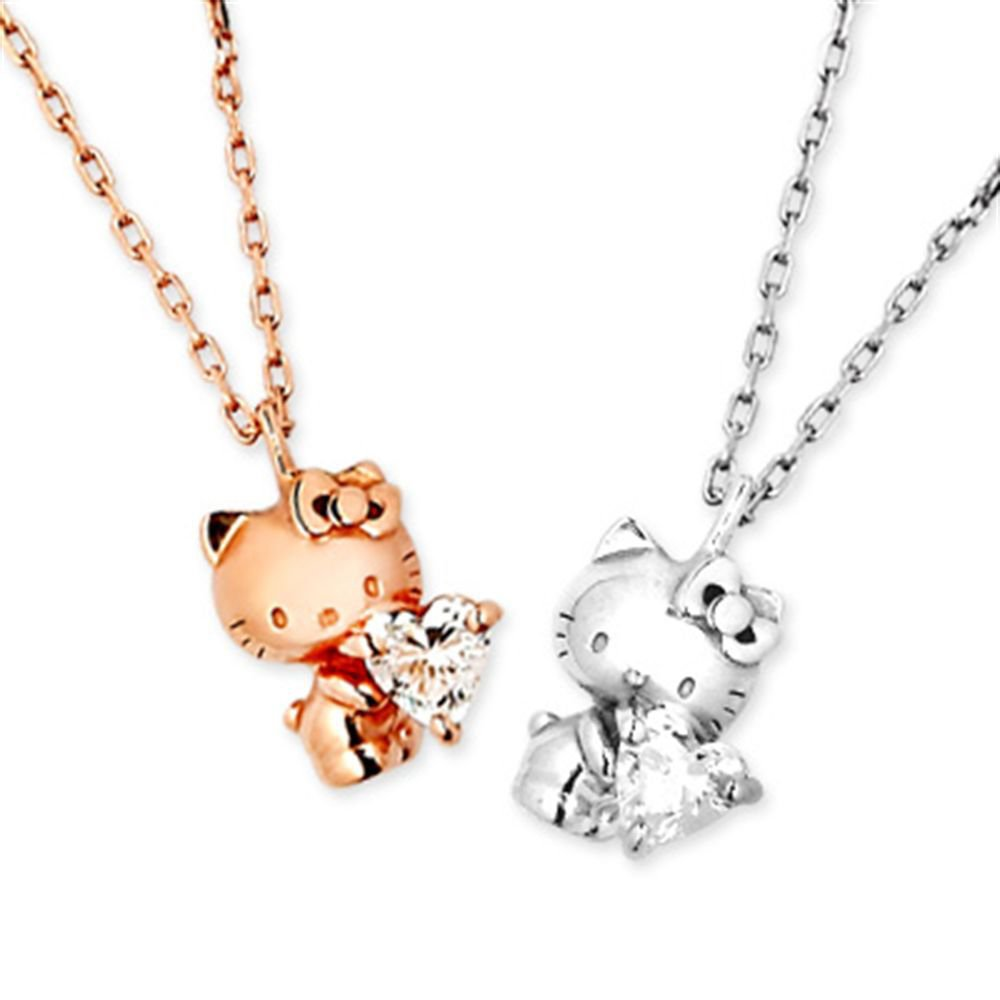 Hello Kitty 40th Anniversary Pendant, Necklace SV925 rhodium / pink gold plating