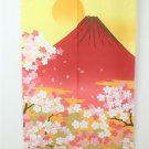 """NOREN"""" New Red Fuji """" Japanese Traditional Curtain, Doorway,Partition NEW"""