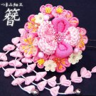Flower crafted KANZASHI Ornamental Hairpin for Kimono, Yukata from Kyoto Japan