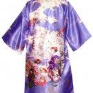 Japanese MAIKO Long Happi ,Coat, Bathrobe, Gown, Roomwear Kimono from Kyoto NEW