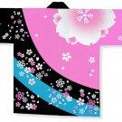 Japanese Festival Coat HAPPI CherryBlossomYukata Kimono Geisha RoomwearJAPAN New