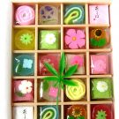 "KYOGASHI  Kyoto Traditional Japanese Sweets ""Flower Garden"" Jelly Candy Cake"