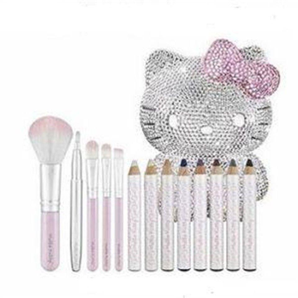 Kitty x Sephora glitter cute Swarovski Collection Brush and Eyeliner Set NEW F/S