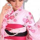 Pink Yukata Set Kimono Dress Maiko Regular M from Girl's JAPAN NEW