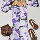 Yukata 4 Piece Set L 2L Large Big Tallsize Women Maiko KimonoDress Japan NEW F/S