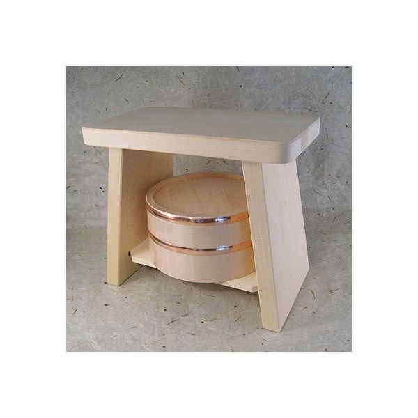 Real Hiba-Hinoki Bath Sets from Japan Tub Chair OKE ISU Japanese cypress NEW