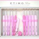 TULIP ETIMO ROSE Crochet Set, Pink Crochet Hooks TER-001 Jpan NEW Free Shipping