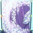 Maiko Kyoto SILK Furisode Kimono Set purple NEW yukata dress lobe Japan F/S