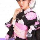 Maiko Yukata 7 Item Set Kimono Dress for Women Regular M from Kyoto JAPAN NEW