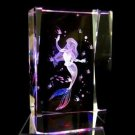 Walt Disney Mermaid 3D Crystal Glass Music Box from Japan NEW Free Shippiing