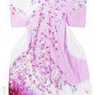 Rose Pink Flower High Class Furisode Yukata Set Kimono M Robe Women`s NEW F/S