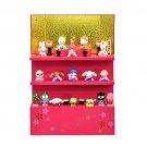 Sanrio x Yoshitoku Hello Kitty Vertical Dankazari 15 Hina dolls Kimonoset NEWF/S