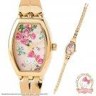 Hello Kitty x LAURA ASHLEY Rose Bracelet Wrist Watch from SANRIO Japan NEW F/S