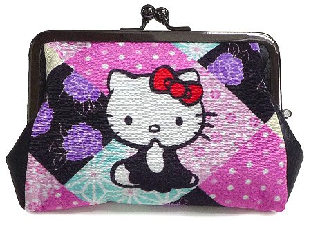 Hello Kitty Crape leather purse Pouch,Perth ,Coin case Wallet Japan Original NEW