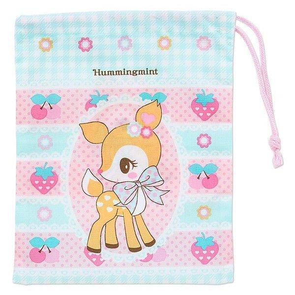 New Sanrio Japan Hummingmint Drawstring Bag