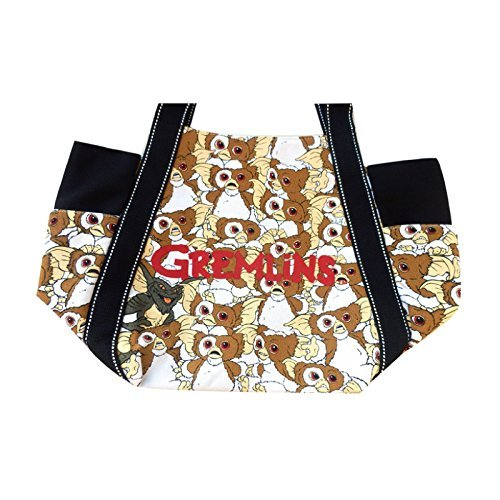 Tote Bag Gremlins Gizmo Canvas Cotton Side Pockets Large