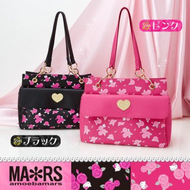 MARS & Hello Kitty Chain Shoulder bag,Case Pink& Black from Japan NEW F/S