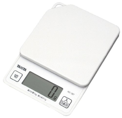 New TANITA digital cooking scale white KD187-WH Japan