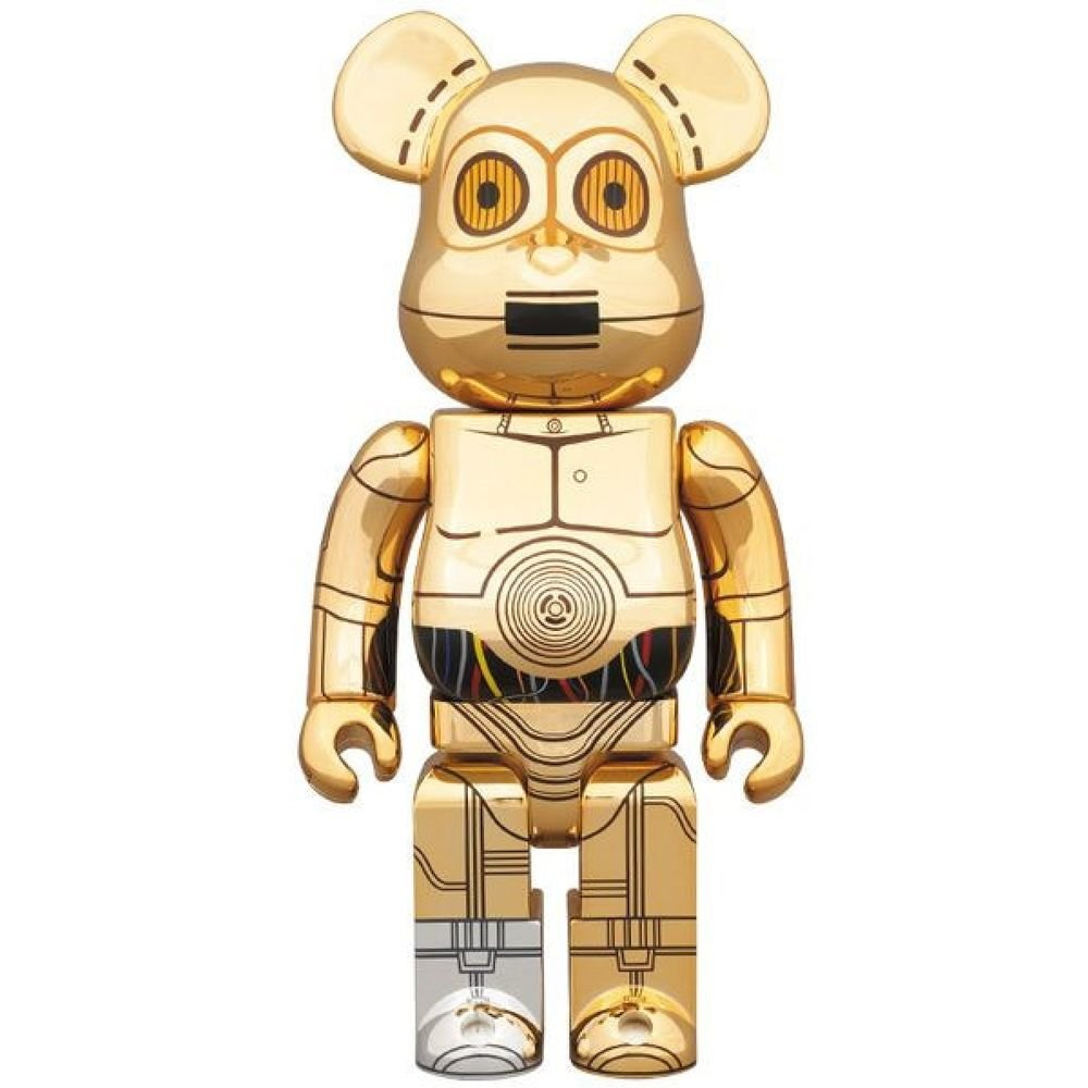 Rare! STUSSY STAR WARS C-3PO BE@RBRICK 400% Bearbrick World limited 1000pcs NEW