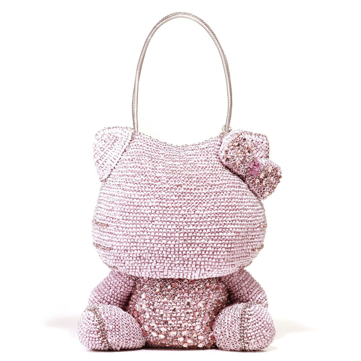 Hello Kitty x ANTEPRIMA Pink Shoulder Bag Silver pink Wire bag from JAPAN NEWF/S