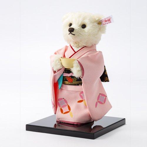 SADOU Tea Ceremony Steiff Teddy bear World limited 1500 body from japan NEW F/S