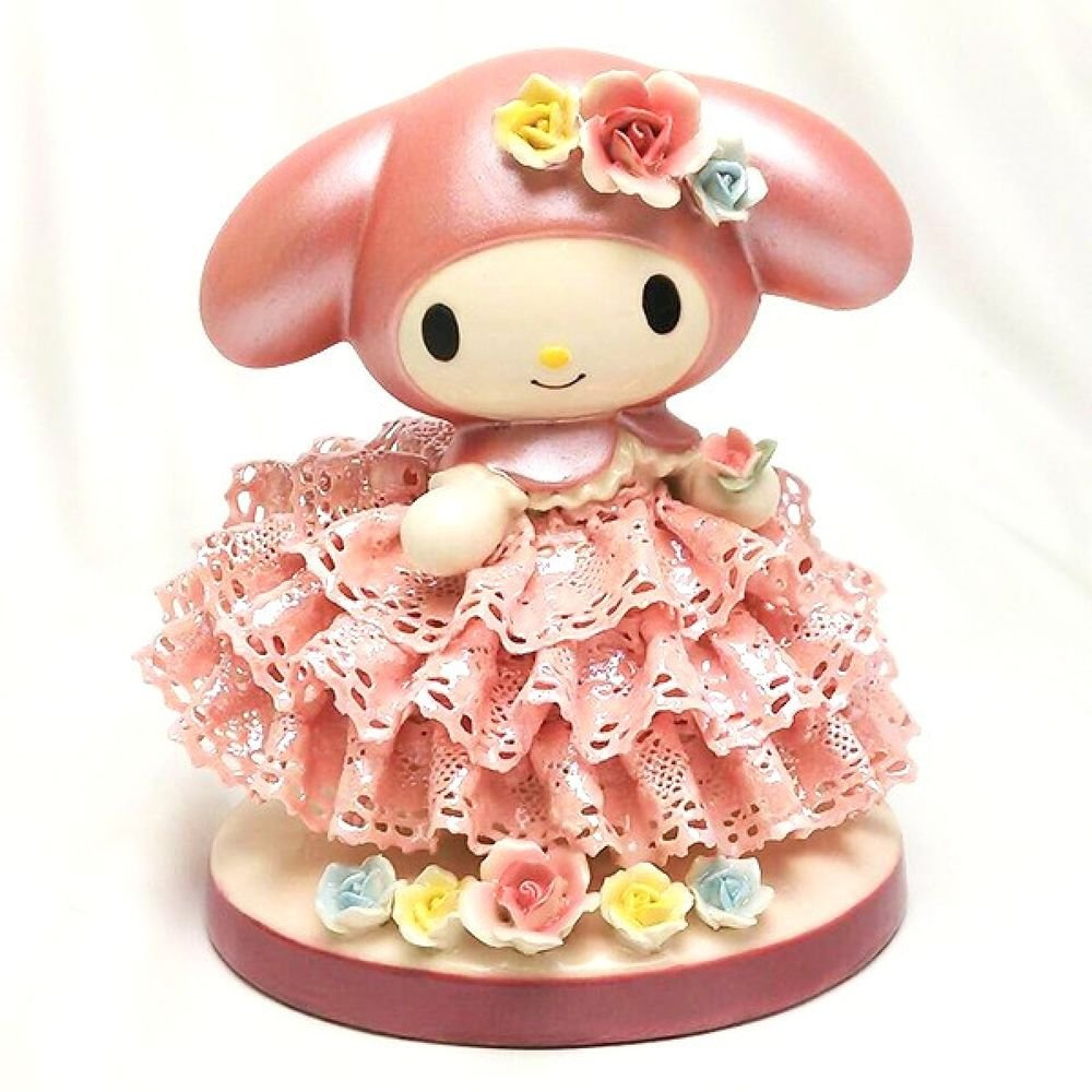 My Melody 40th.Porcelain Ceramic Lace Doll Stuffed JapanLimited Plush FiguresNEW